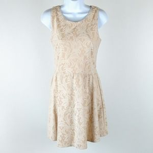 Heart Soul faded peach colored lace dress